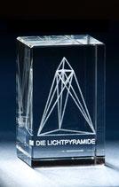 Lichtpyramide klein 6,0 x 3,5 x 3,5 cm