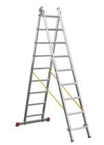 Escalera transformable 2 tramos básica de aluminio