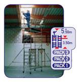 Andamio de aluminio Speedy PACK 1+2+3