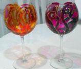 Dos copas de vino o cava
