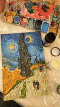 """Canvas """"Van Gogh Style"""""""