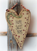 "Kreativer Workshop - Dekoratives Türschild ""Home Sweet Home"""