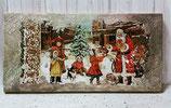 Kreativer Workshop - Weihnachtliche Leinwand mit Freskoimmitation