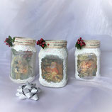 "Candle Holders Set ""Merry Christmas"""