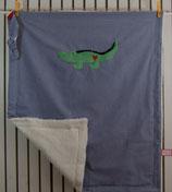 Decke mit Schnuffel Krokodil