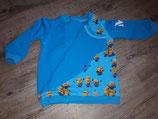 Wickelpullover in Biker-Jackenform, Sweatshirt geknöpft