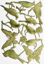 Prägeoblate Vögel/Schmetterlinge