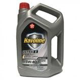 Aceite coche 5w40 Texaco Havoline Ultra S OFERTA 5 LATAS DE 4 LITROS