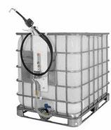 Conjunto de bomba neumática SAMOA PM2 3:1 con contador y bastidor fijación lateral a contenedores normalizados (IBC) 454 150