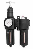 """Conjunto regulador, filtro y lubricador SAMOA 3/4"""". Con manómetro 0-16 bar. (Modelo ATC-3N)"""