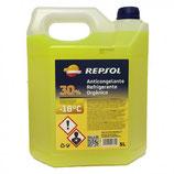 Repsol Anticongelante-Refrigerante 30% amarillo (caja de 5 garrafas de 5Ltrs)