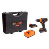 """Kit taladro atornillador 18V 13mm-1/2"""" sin escobillas y portabrocas automático BCL33D1K1 Bahco"""