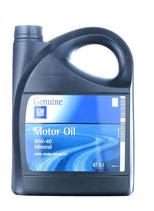OPEL GM Aceite de motor 15W-40, Capacidad: 5L, Aceite mineral