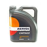 REPSOL CARTAGO AUTOBLOCANTE EP 80W90 OFERTA 4 LATAS DE 5 LITROS