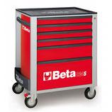 Carro herramientas Beta C24S 6/R-CAJONERA MÓVIL 6 CAJONES ROJO