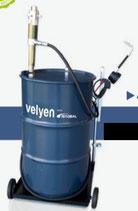 Suministrador móvil para bidón  de 208 L, carro, bomba y pistola digital Velyen 4LM0010