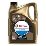 Garrafa de aceite Total Classic 7 10w40 5 litros (1 caja de 3 garrafas de 5 litros)