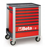 Carro herramientas Beta C24S 8/R-CAJONERA MÓVIL 8 CAJONES ROJO