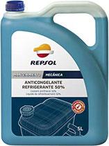 Repsol anticong.refrig.maxima qualiti 50% 5 litros Referencia RP700W39 (caja de 5 garrafas de 5Ltrs) color azúl