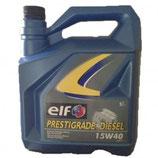 Aceite Elf Prestigrade Diesel 15W40 (1 garrafa de 5 litros)