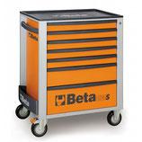 Carro herramientas Beta C24S 7/O-CAJONERA MÓVIL 7 CAJONES NARANJA