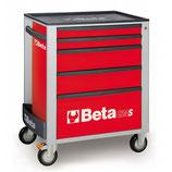 Carro herramientas Beta C24S 5/R-CAJONERA MÓVIL 5 CAJONES ROJO