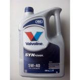Valvoline Synpower MST C3 5W40 5L VALVOLINE (1 garrafa de 5 litros)