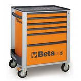 Carro herramientas Beta C24S 6/O-CAJONERA MÓVIL 6 CAJONES NARANJA