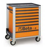 Carro herramientas Beta C24S 8/O-CAJONERA MÓVIL 8 CAJONES NARANJA