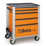 Carro herramientas Beta C24S 5/O-CAJONERA MÓVIL 5 CAJONES NARANJA