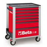 Carro herramientas Beta C24S 7/R-CAJONERA MÓVIL 7 CAJONES ROJO