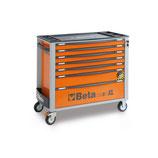 Carro de herramientas Beta C24SAXL/7-O-CAJONERA MÓVIL 7 CAJONES Color Naranja