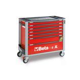 Carro de herramientas Beta C24SAXL/7-R-CAJONERA MÓVIL 7 CAJONES Color Rojo