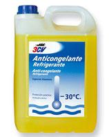 ANTICONGELANTE DILUIDO -30º 3CV 5 LITROS 0224761 amarillo