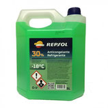 Repsol Anticongelante-Refrigerante 30% verde  (caja de 5 garrafas de 5Ltrs)