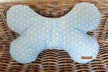 Kuschel Knochen Kissen  Hellblau