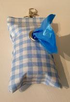Kotbeutelspender  Blau / Karo
