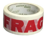 Moving Printed Fragile Tape No Glass