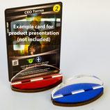 """Kartenhalter / Card Stands """"rot/blau"""""""