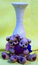 Teddyvase mit Herz