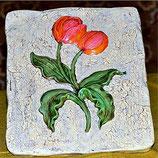 Wandkachel Tulpe