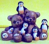 Teddy mit Pinguine