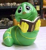 Wurm mit Buch