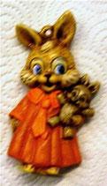 Osteranhänger Häsin mit Teddy