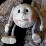 Golfball mit Gesicht