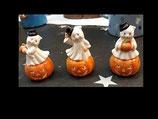 4 kleine Geister mit Hut im Set