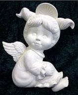 Engel Mädchen mit Zöpfen flach