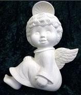 Engel Junge mit gelocktem Haar flach