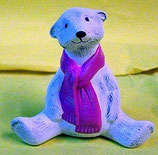Polarbär sitzend