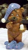 Teddy mit Pantoffeln